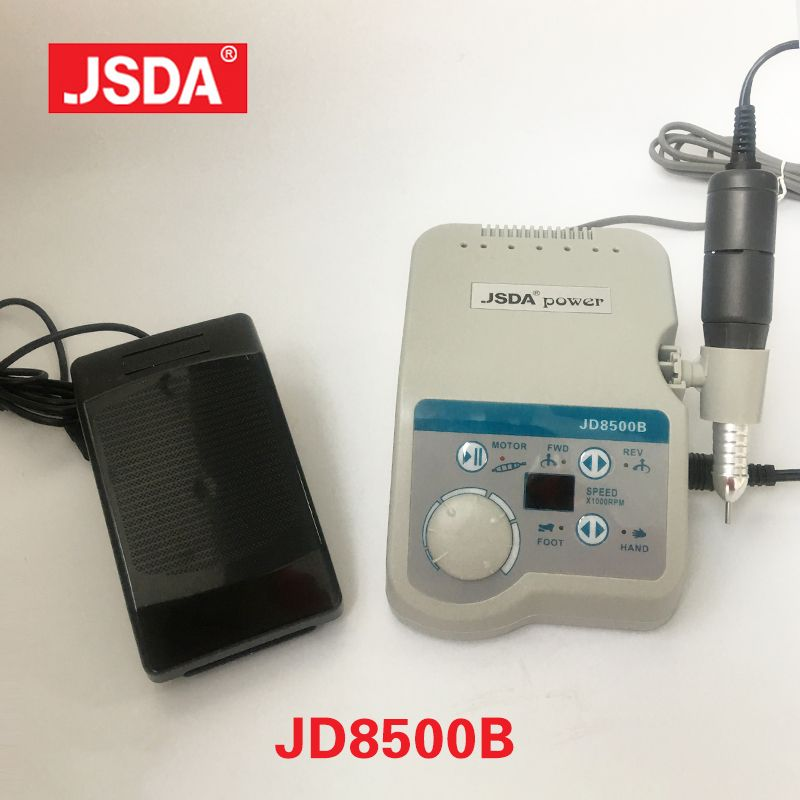 Echt JSDA JD8500B 65 watt 35000 rpm profis Elektrische Nagel Bohrer Maschine maniküre Pediküre Nägel Kunst Ausrüstung Lcd Display