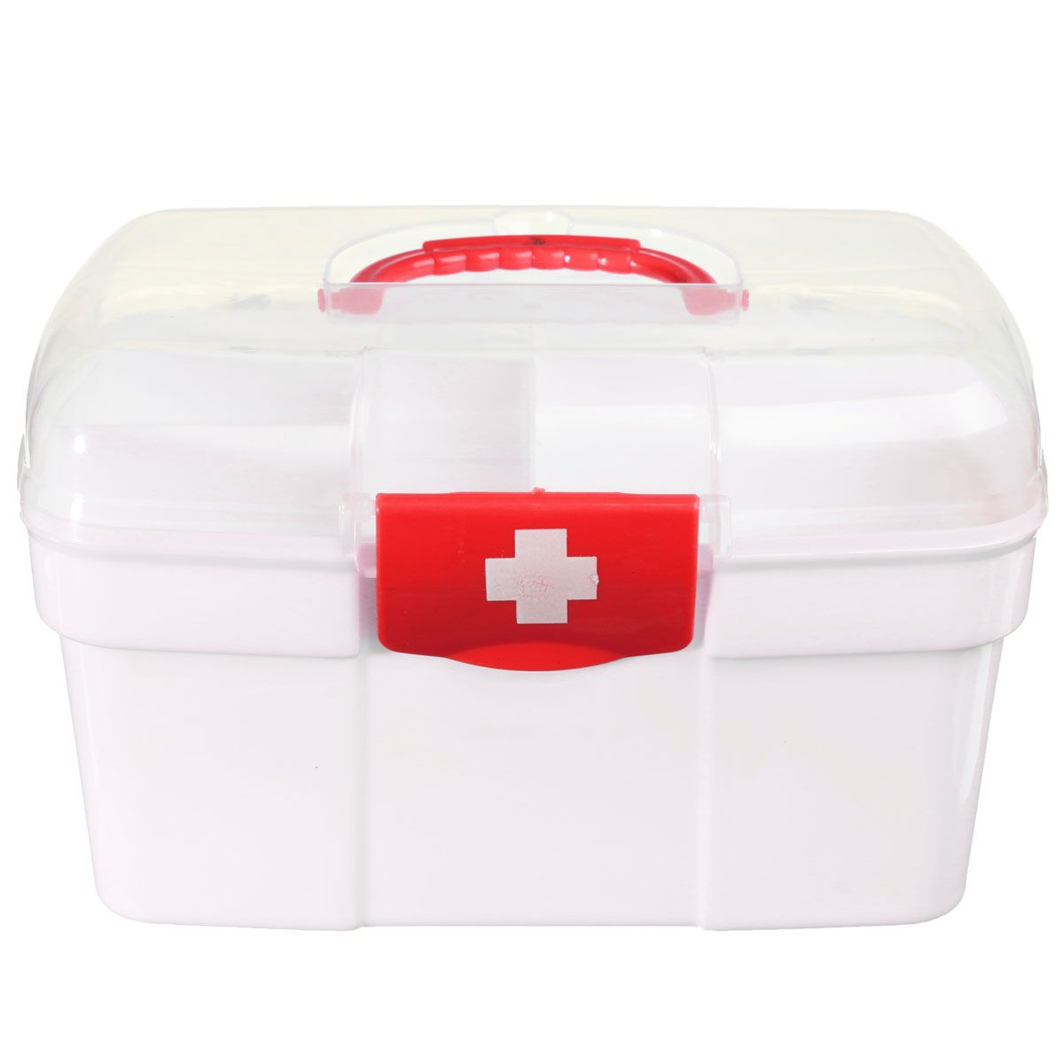 NEW Plastic 2 Layers Home Medicine Chest First Aid Kit Holder Storage Box Emergency Kits Security Safety