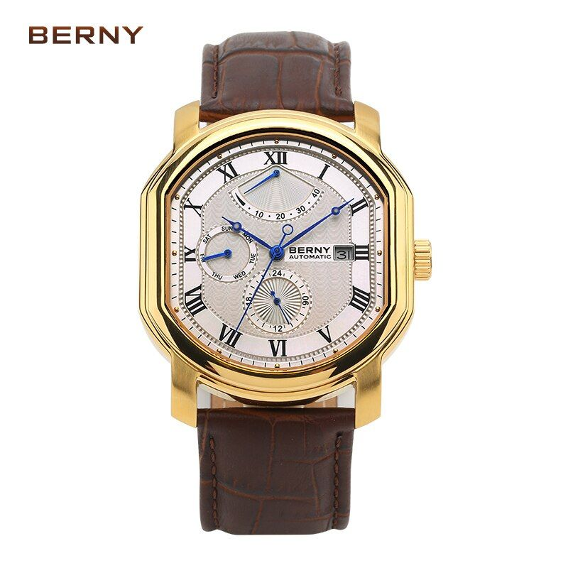 BERNY watch men Top Brand Luxury Mechanical men's watches relogio masculino kol saati reloj hombre Automatic movement AM050