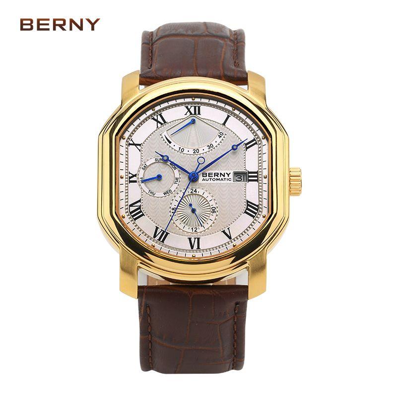 BERNY watch men Top Brand Luxury Mechanical men's watches relogio masculino kol saati reloj hombre Automatic movement AM050