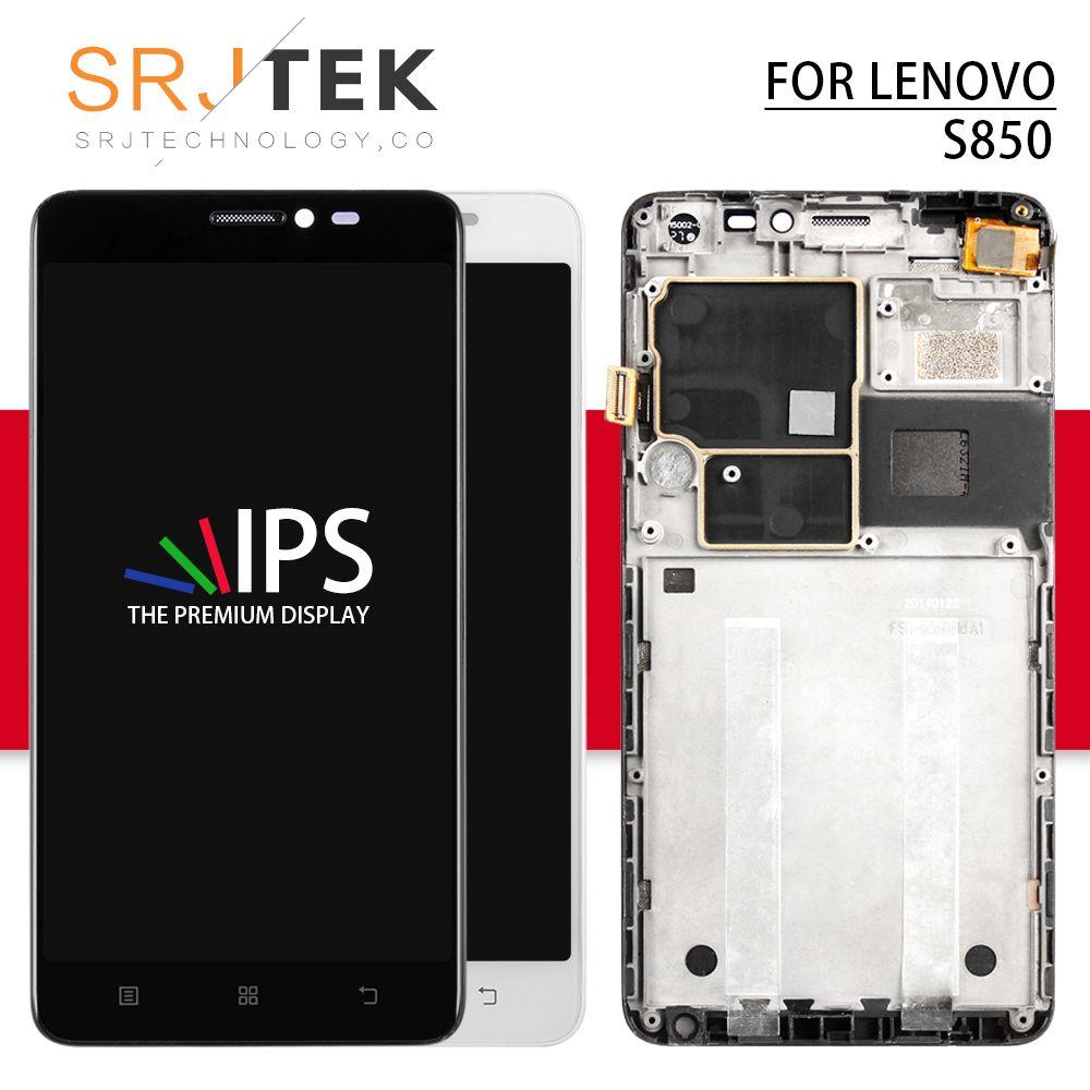 Srjtek For Lenovo S850 LCD Display Panel with Touch Screen Digitizer Sensor Assembly With Frame 5.0'' 1280*720 For Lenovo S850T