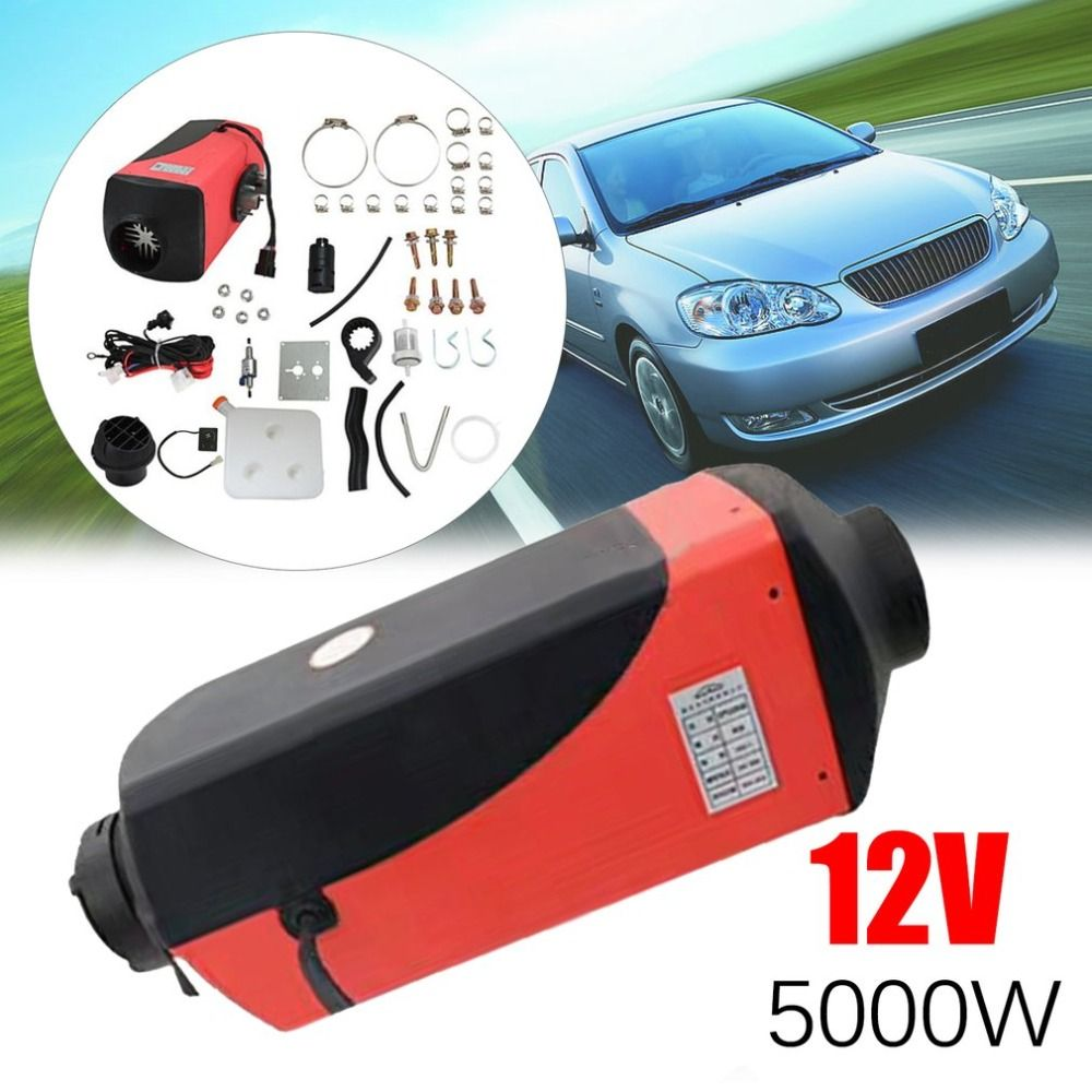 New Genuine 5KW Oil Fuel Heater Professional Air Parking Heater Low Emissions Universal Heating Device For Car Trucks Boat Bus