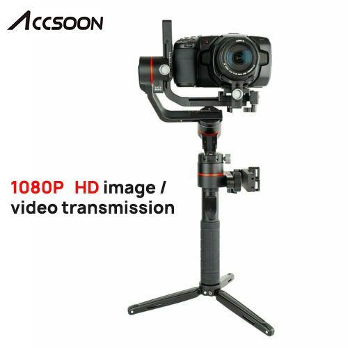 Accsoon A1-PRO 3-Achse Handheld Gimbal Stabilisator für DSLR Canon Kameras Laden 3,6 KG Cine Auge 1080P Wireless bild Mbs