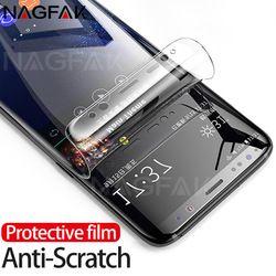 NAGFAK 3D curvado Protector de pantalla para Samsung Galaxy S9 S9Plus S8 S8Plus Nota 8 S7 borde suave película protectora no vidrio Templado