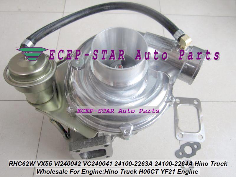 RHC62W VX55 VI240042 VC240041 241002263A 24100-2263A 24100-2264A 24100 2264A Turbo Turbolader Für Hino Lkw H06CT YF21 Motor