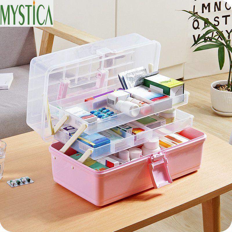 First Aid Kit Medical Lagerung box Multi Funktion Umwelt Kunststoff Organizer Fall Reise Medizin Box Wandern Überleben Kits