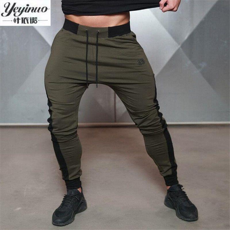 YEYINUO Brand Men's Pants Workout Cloth exercise Active Cotton Pants Men Joggers Pants Sweatpants Bottom Legging trousers