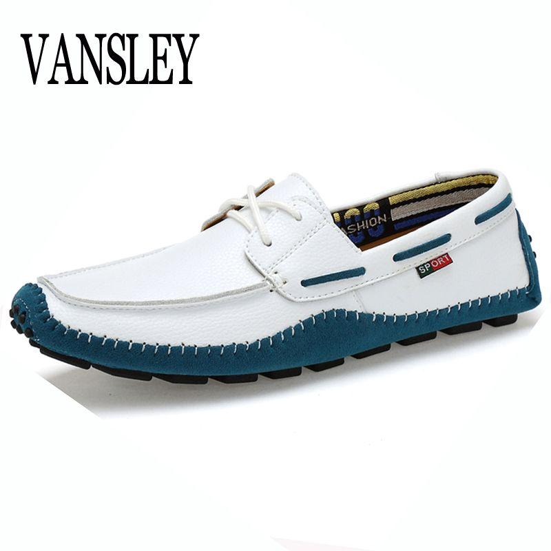 Grande Taille Haute Qualité En Cuir Véritable Hommes Casual Chaussures Doux Mocassins Marque De Mode Hommes Appartements Confortables Conduite Bateau Chaussures 38-47