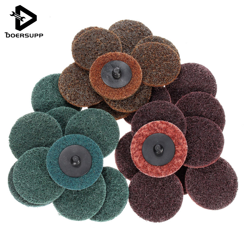 Newest 30Pcs/set 2 Inch Sanding Roloc Disc Roll Lock Surface Conditioning Fine Medium Coarse Pad Hot Sale