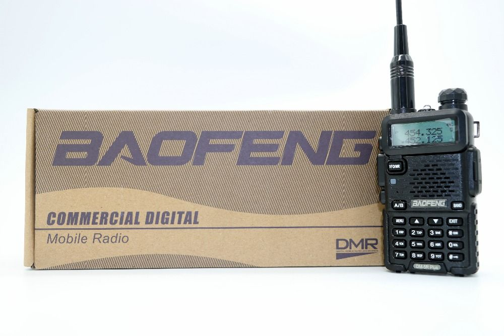 2pcs Baofeng DM-5R Plus Portable Radio VHF UHF Dual Band DMR Digital Anolog dual mode 5W 128CH Walkie Taklie DM5R+ Transceiver