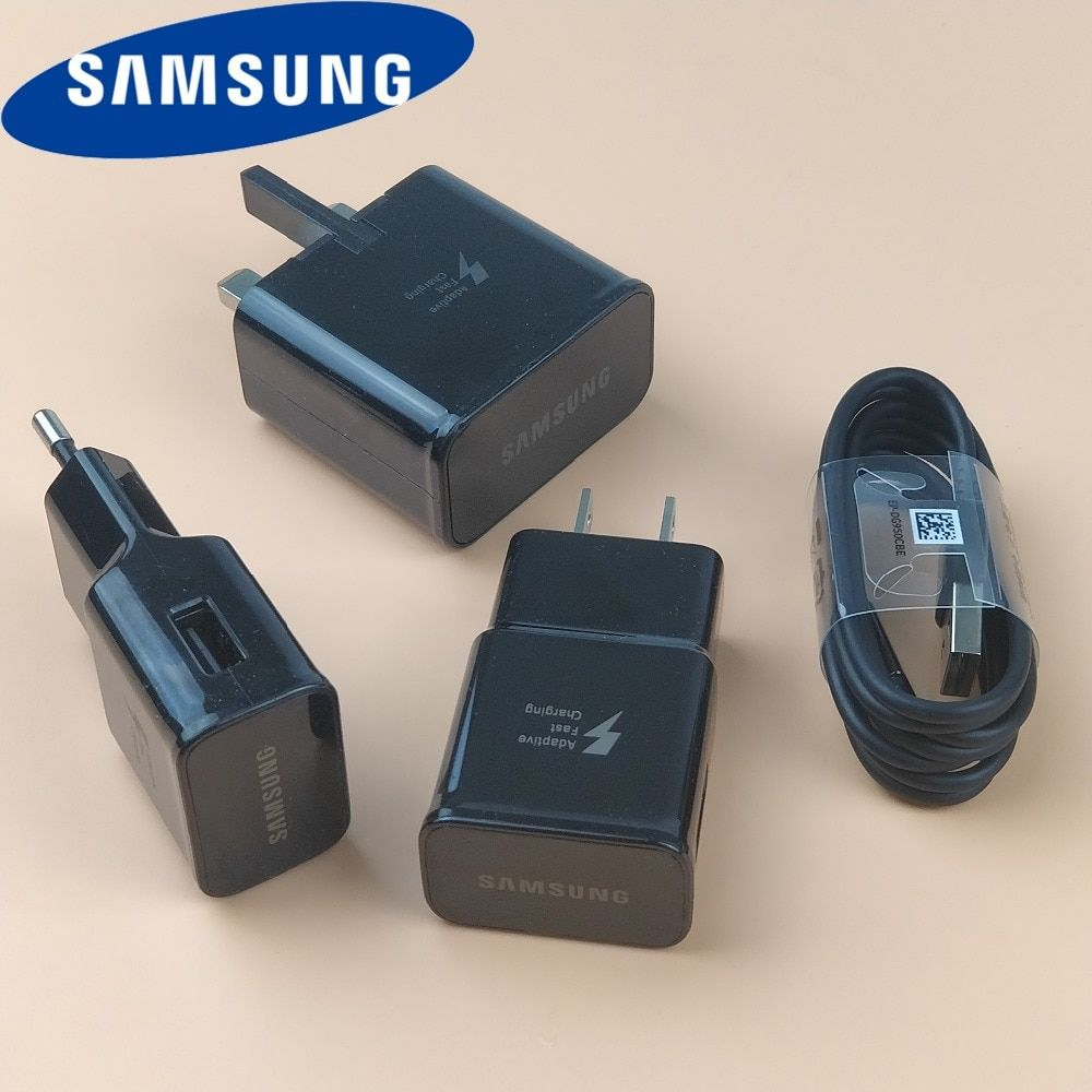 Original Samsung galaxy S9 Quick Charger For S8 S7 Smartphone 9V 1.67A Wall Charge Power Adapter & Genuine Usb 3.1 Type C cable