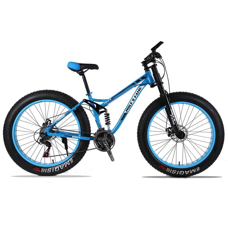 Montanha Bicicleta Gordura Quadro de Suspention Completo 24 Velocidade de Freio A Disco 26