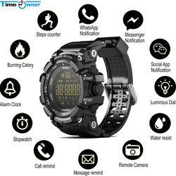 Waktu Pemilik Bluetooth Jam EX16 Smart Watch Pemberitahuan Remote Control Pedometer Sport Watch IP67 Tahan Air Pria Jam Tangan