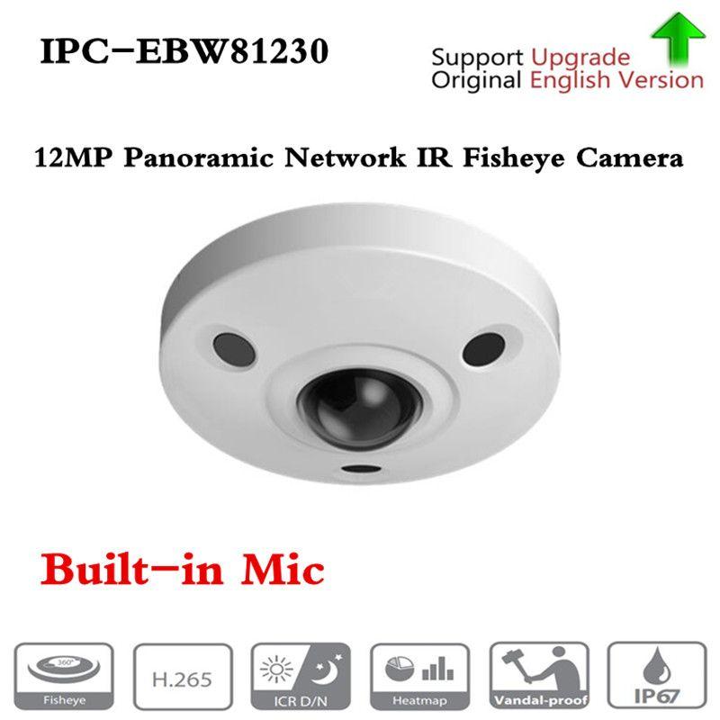 Original Englisch version IPC-EBW81230 12MP Panorama Netzwerk IR Fisheye Kamera H.265/H.264 3DNR AWB AGC BLC IP67 IK10 PoE