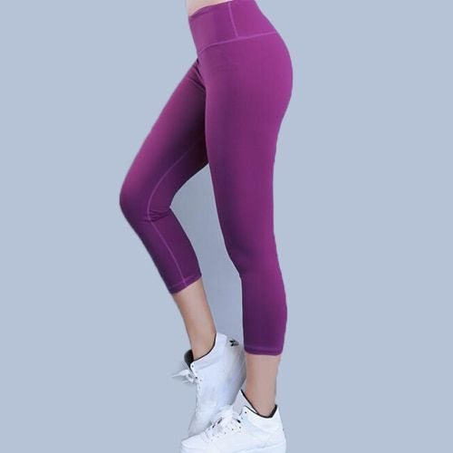 Eshtanga capris women sports crop top quality Solid High Elastic Waist Thick Material Bodybuilding Yoga skinny pants