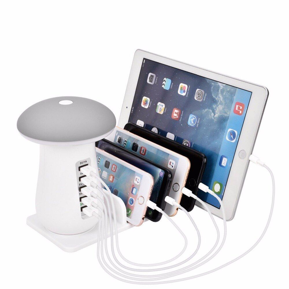 Universal 5USB fast charging Ports Detachable Charging dock Station Stand Holder Desktop Charger for Mobile Phone Tablet PC