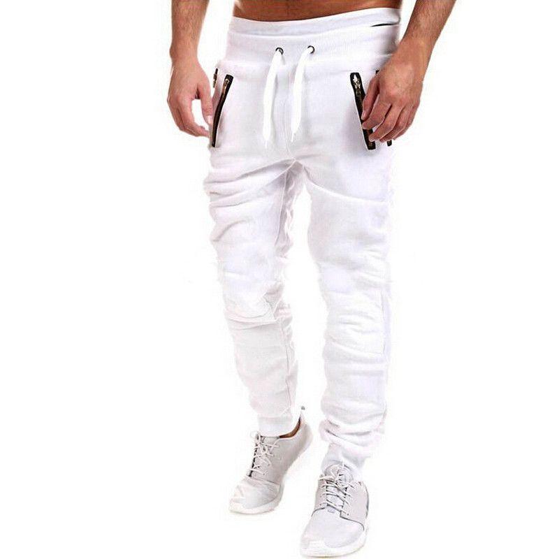 Mens Joggers 2017 Brand Male Trousers Men Pants Casual Pants Sweatpants Jogger White Gray Black XXXL