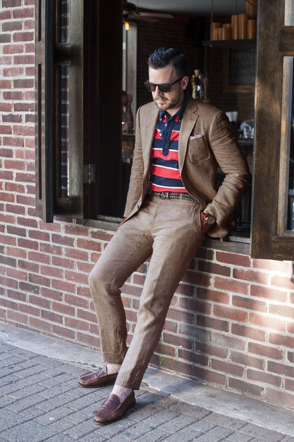 2017 Latest Coat Pant Designs Khaki Linen Suits Men Beach Loose Jacket Custom Simple Stylish Custom Men Tuxedo 2 Piece Herren I1
