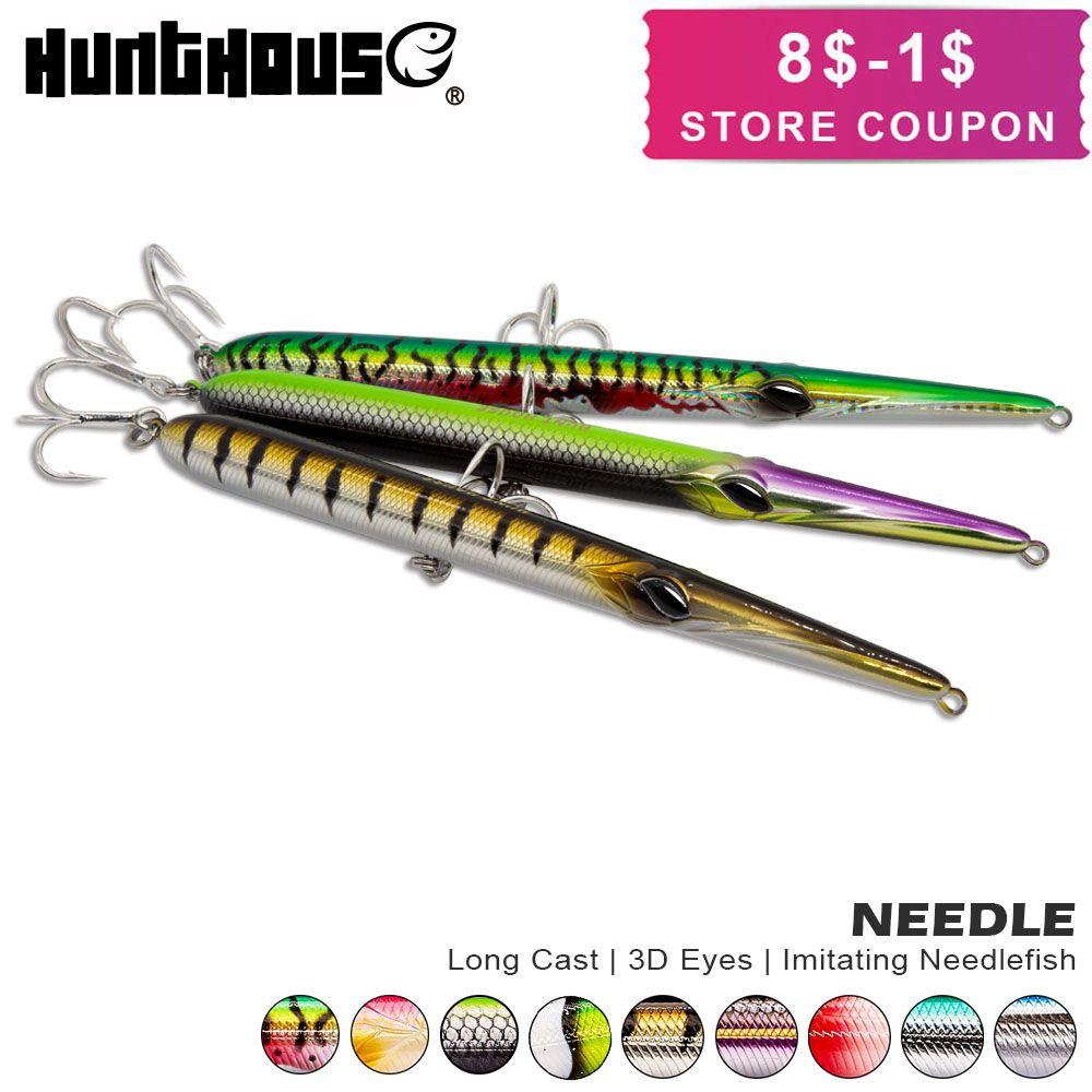 Hunthouse aiguille stylo leurre de pêche longue coulée crayon stickbait flottant et au naufrage 205mm 31/36g à sauter garfish sphyraena pesca