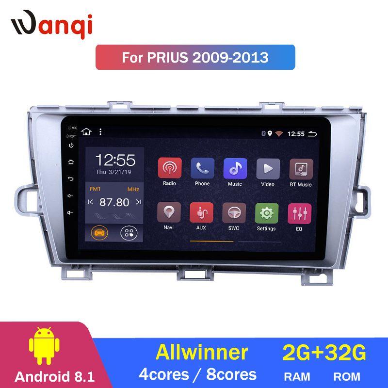 2G RAM 32G ROM 9 zoll Android 8.1 GPS Navigation Radio für 2009-2013 Toyota Prius LHD mit bluetooth USB WIFI