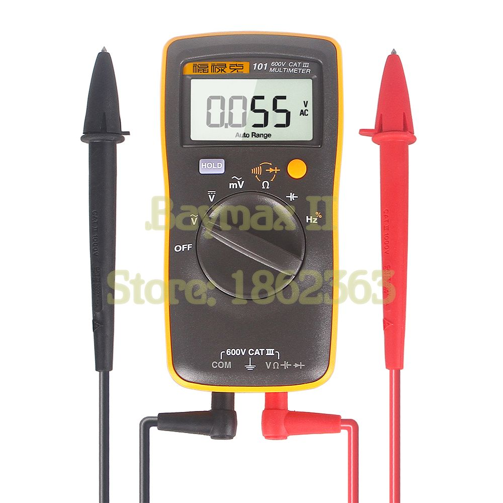 Fluke 101 Auto Range Digital Multimeter for AC/DC Voltage,Resistance,Capacitance and Frequency Measurement