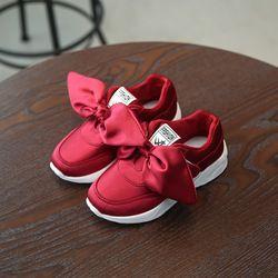 2018 verano dulce zapatos del bebé princesa arco grande suela blanda pisos antideslizantes niños Rosa rojo verde pisos zapatos de fiesta