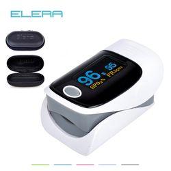 ELERA Mise À Niveau avec réglage de l'alarme Numérique doigt oxymètre, oxymètre de pouls un doigt, pulsioximetro SPO2 PR oxymètre de dedo