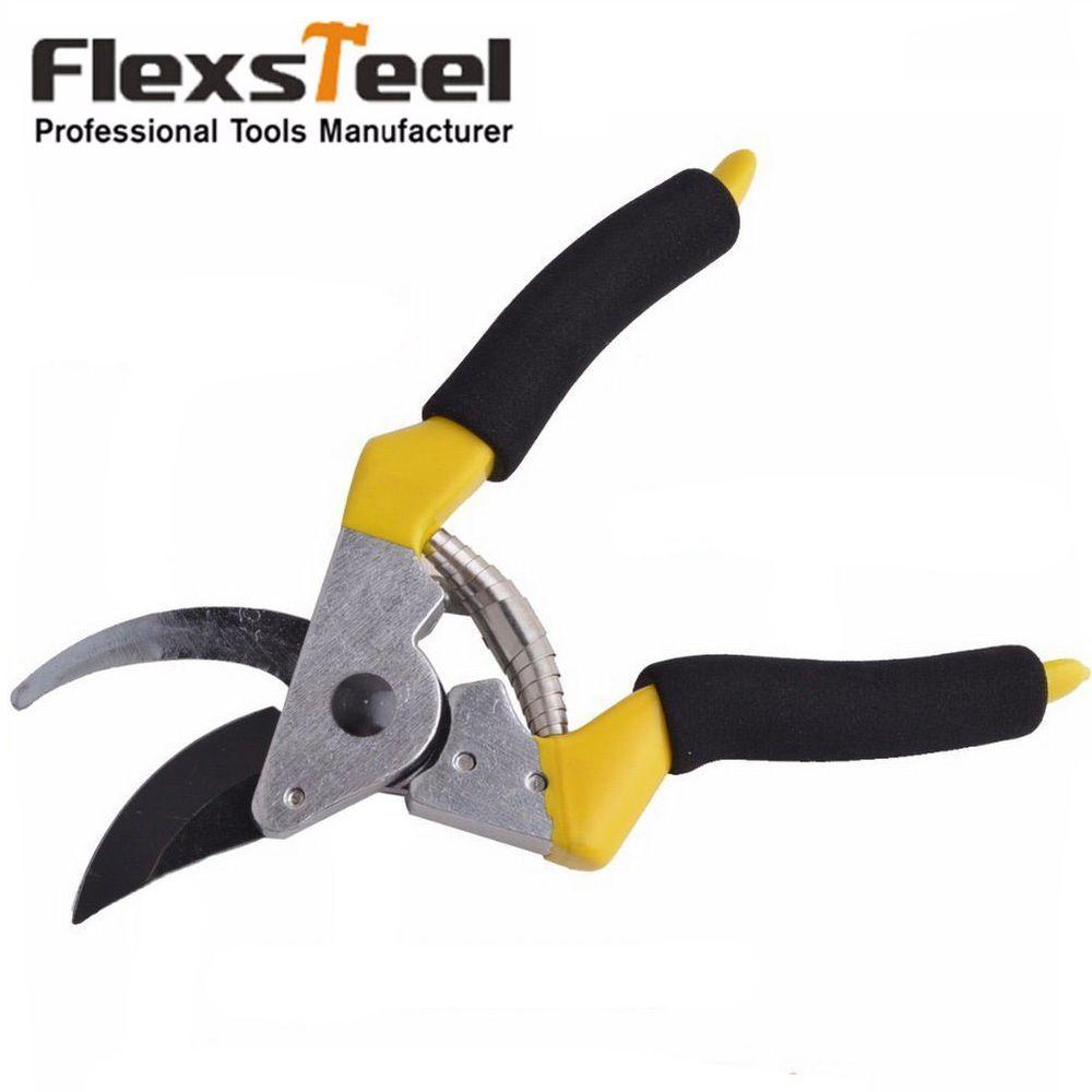 Flexsteel High Carbon Steel 8inch/200mm Fruit Tree Pruning Shears Garden Tools Bonsai Pruners Gardening Secateurs Grafting Tool