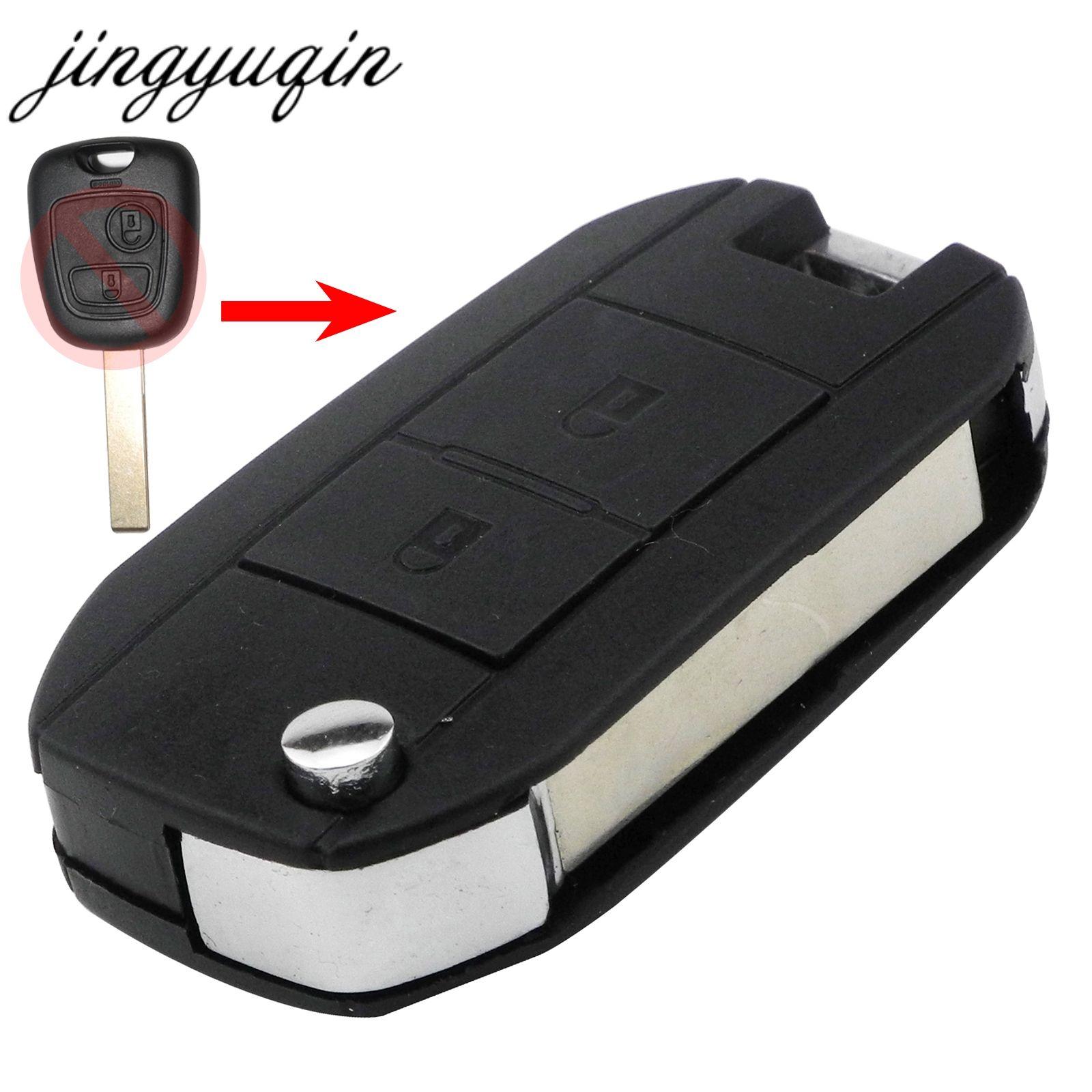 Jingyuqin Für Citroen C1 C2 C3 Pluriel C4 C5 C8 Xsara Picasso VA2/HCA Klinge 2-Taste Flip Geändert auto Schlüssel Shell Remote Fall