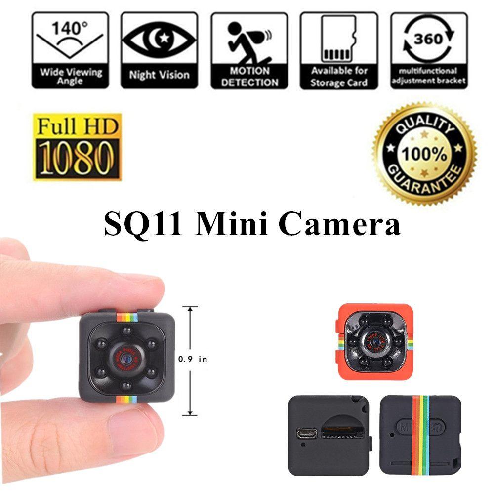 Mini Caméra SQ11 HD 1080 p Caméra Vidéo Micro Détection De Mouvement micro Caméscope Infrarouge Vision Nocturne Enregistreur minicamera M² 11