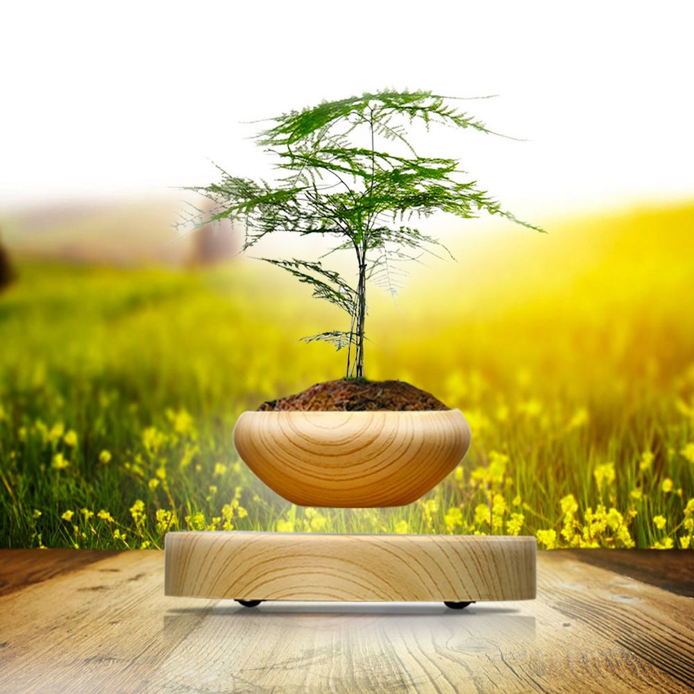 Magnetic levitation plant gifts magnetic levitation creative air potted high-end fashion high-tech ornaments