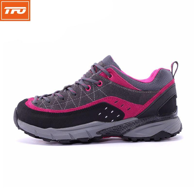 TFO  Women Waterproof Walking Cushioning Wearable Shoes Women's Outdoor Sports Sneaker Mountain Breathable Grey Footwear 844558