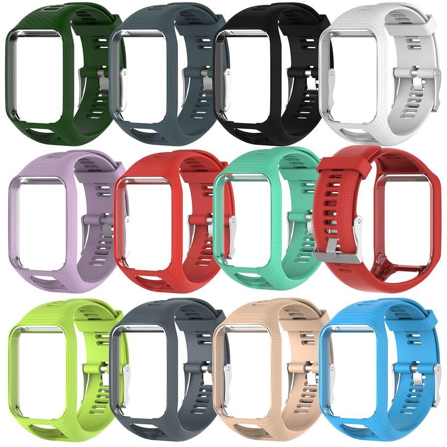 TPE Watchband Strap for TOMTOM Runner 2 3 Spark / 3 Glfer 2 Adventurer GPS Watch 11 Colors