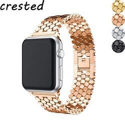 Stainless Steel strap for Apple watch band 44 mm 38mm iwatch band 42mm 40mm link bracelet correa watchband for Apple watch 5 4 3