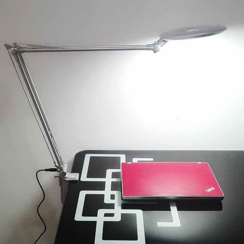 LED powerful clip type cold light lamp Magnifier with light magnifying glass Grafting eyelash lamp office lamp