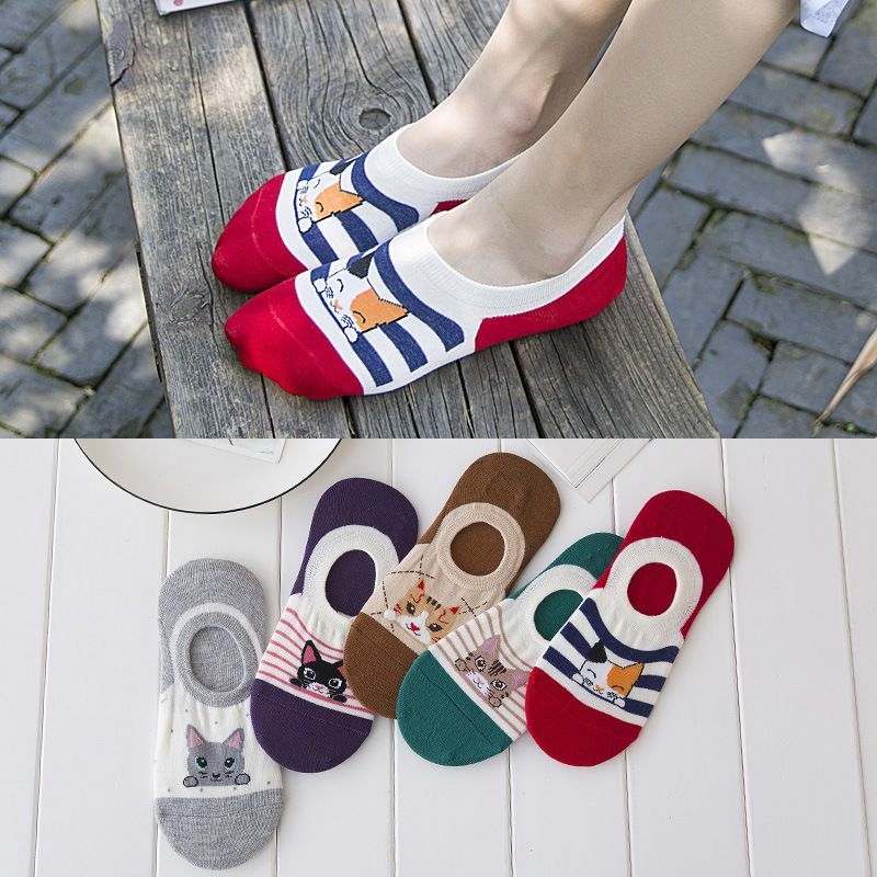 Zhuji socks wholesale summer ladies cotton cartoon socks stealth boat socks female socks on behalf of a shipment
