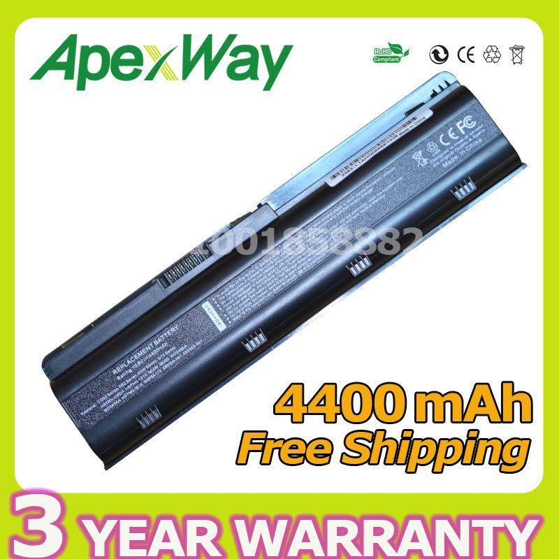 Apexway <font><b>4400mAh</b></font> Battery For HP Compaq Pavilion G6 G4 G61 G7 DM4 DV3 DV5 DV6 DV7 CQ42 CQ43 CQ62 CQ72 MU06 593553-001 hstnn-lb0w