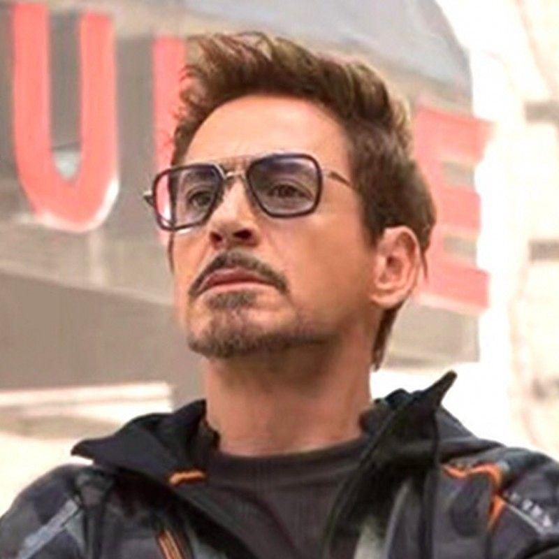 Male Steampunk Sunglasses Tony Stark Matsuda Sunglasses Retro Vintage Eyewear Square Sun Glasses UV400 Oculos 5170T