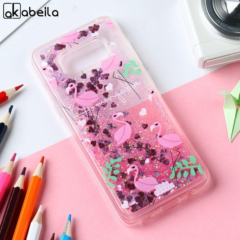 AKABEILA Flamingo Fall Für Samsung Galaxy S8 G950F G950W G950S G950K G950L G9500 SAM-S8 5,8 zoll Tier Treibsand Weichen Caso haube