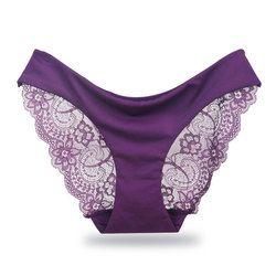 Femmes Sous-Vêtements Sexy Culotte En Dentelle de Dames Sans Soudure Mémoires Coton Culotte Femelle Broderie Ultra-Mince Transparent Respirant Nouveau