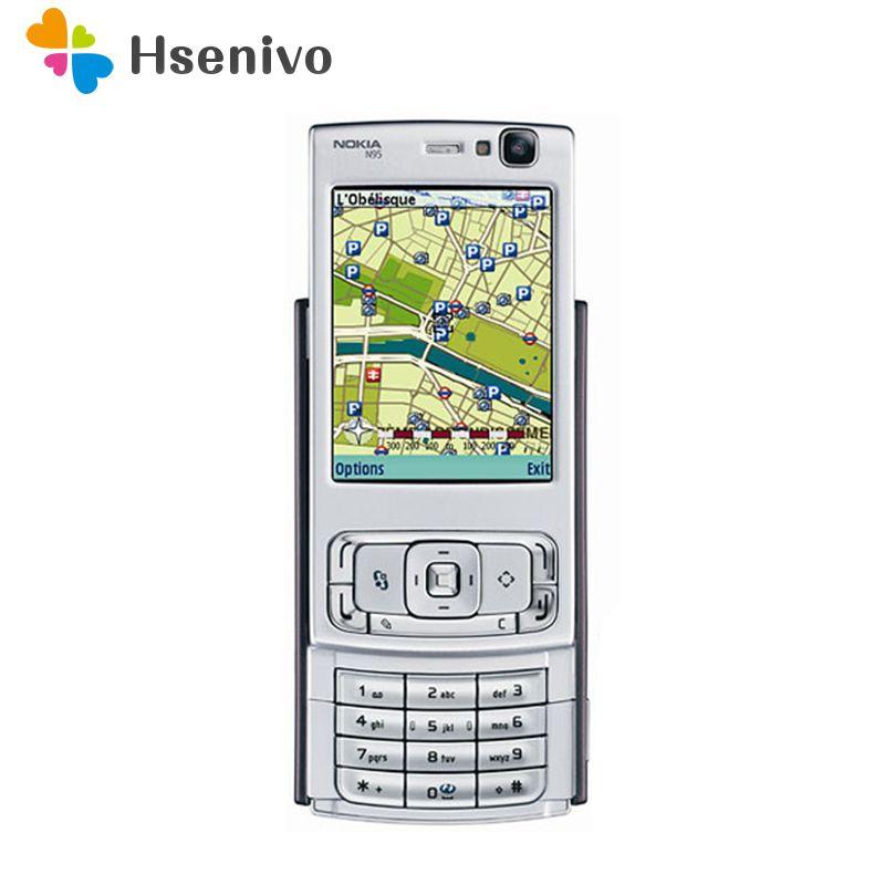 Refurbished N95 Original Nokia N95 WIFI GPS 5MP 2.6''Screen WIFI 3G Unlocked Mobile Phone 1 Year Warranty