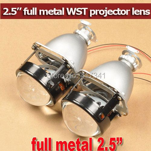 Upgrade High Bright Full Metal H4 H7 Projector 2.5 inches WST Mini HID Bi-xenon Projector for Auto Headlight Using H1 HID Bulb