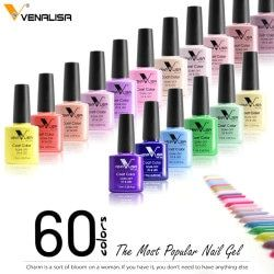 Venalisa Nouveau 60 Couleurs Comestic Art Nail Design Gel UV/LED Nail Gel Laque Soak Off 7.5 ml Gel Vernis À Ongles Vernis À Ongles Gels
