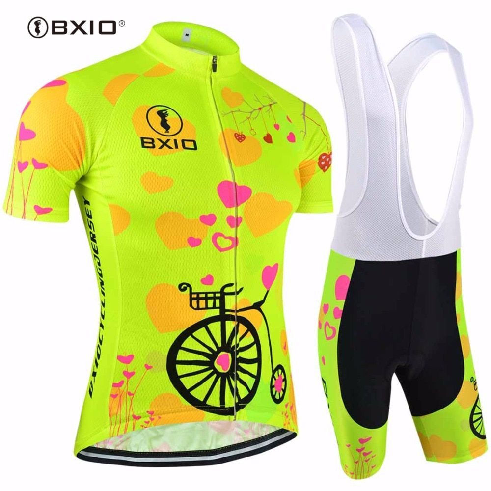 2017 Women Cycling Sets BXIO Brand Bicycle Short Sleeve Road Bike Clothing Pro Team Uniform Roupas De Ciclismo Equipacion 125