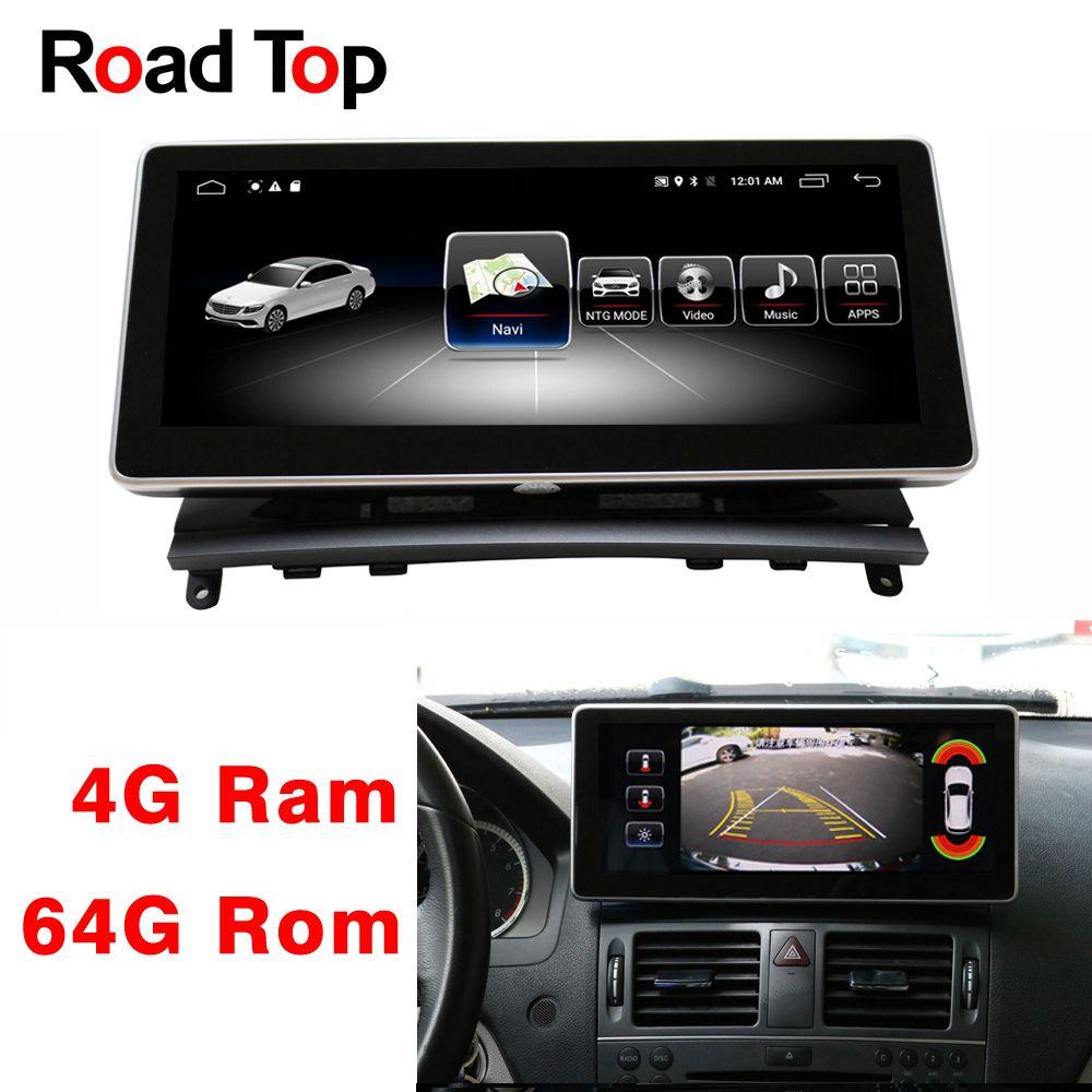 Android 8.1 Octa 8-Core 4 + 64G Auto Radio GPS Navigation Bluetooth WiFi Kopf Einheit Bildschirm für Mercedes benz C Klasse W204 2008-2010