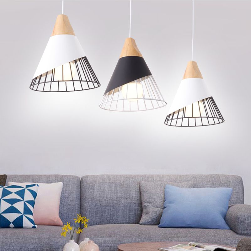 The Nordic Contracted style fashion, wood wrought iron Hollow out aluminium, Household decorative lighting pendant light