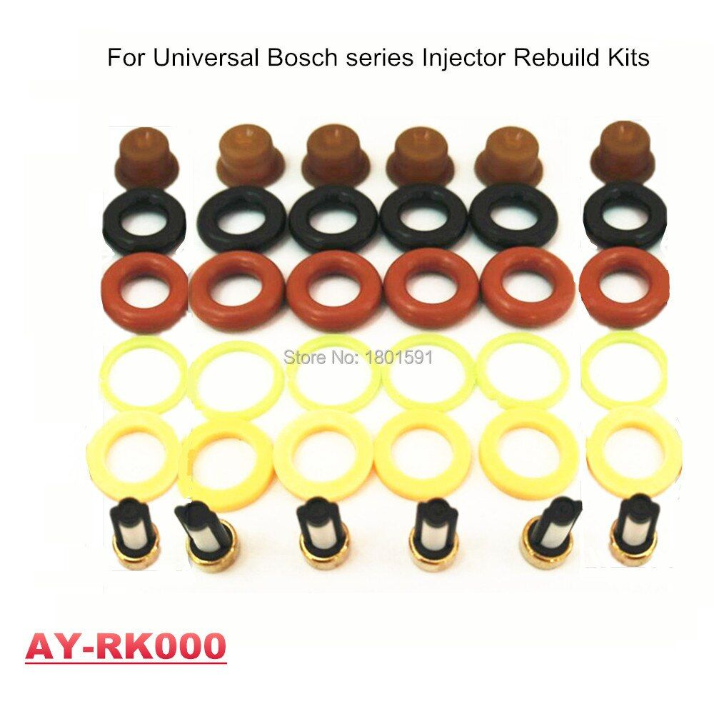 Free Shipping 6pieces/set univesal bosc* fuel injector rebuild kits  for japan cars (AY-RK000)