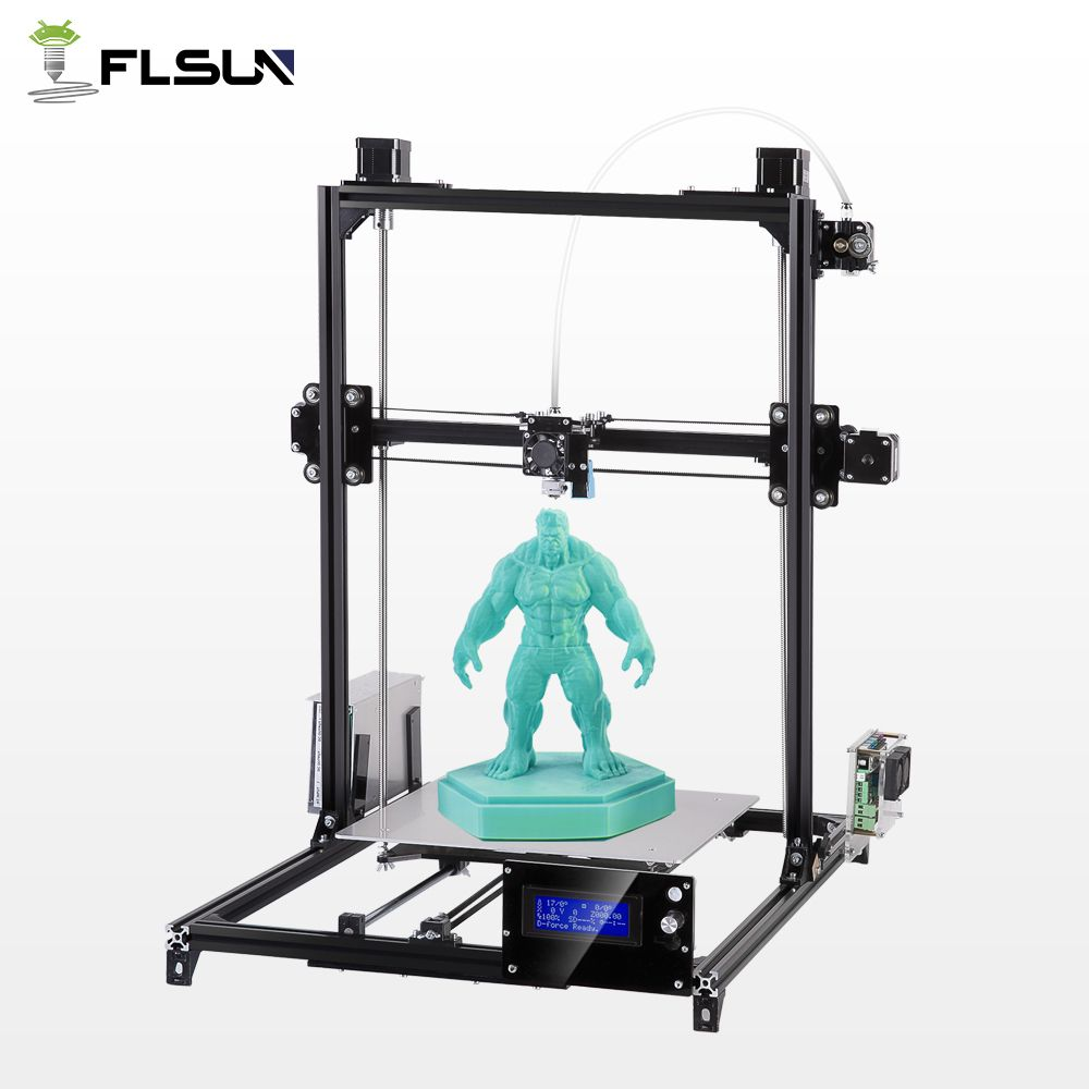 Flsun Large Printing Area 300*300*420mm 3D Printer Auto Leveling Metal Stracture High Precision Heated Bed Kit filament kit