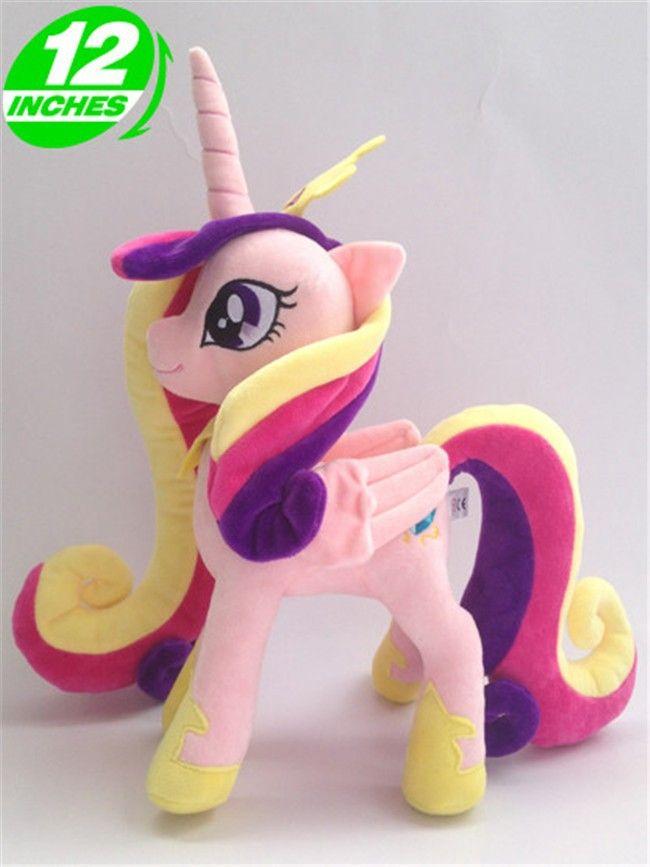Бесплатная доставка 30 см Принцесса Cadance Мультфильм Животные Лошадь Единорог Плюшевые Игрушки кукла для подарок на день рождения