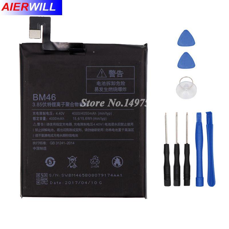 4000 mah BM46 Batterie Pour Xiaomi Redmi Note 3 note3 Pro/Premier Bateria Accumulateur + Outils